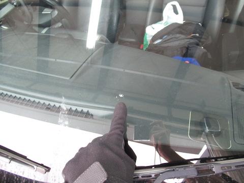フロントガラス被害にあったその日に修理します!