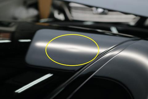 車のルーフのヘコミを鈑金・塗装したくない方、デントリペアをご紹介します!
