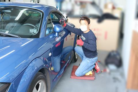 長く大事にしている愛車のヘコミ修理、塗装しないで直します!