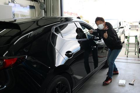 新車のヘコミ修理もデントリペアで新車のボディに戻します!