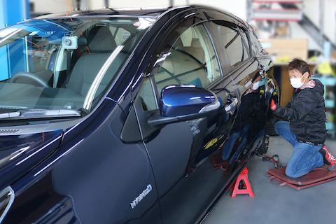 洗車の時にヘコミを見つけたショック、即時で修理しお悩み解決します!