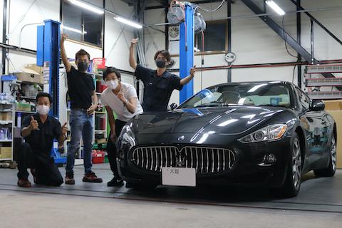 マセラティ等の高級車のヘコミもデントリペアで価値を下げない修理!