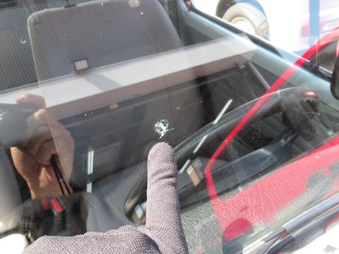 旧車のフロントガラスのヒビ割れも修理できます!