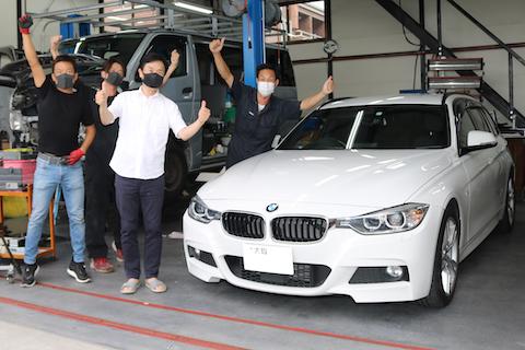 輸入車のヘコミ修理も気軽に瞬時に直しましょう!