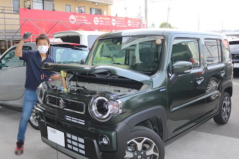 新車のヘコミ修理するなら、まずはデントリペアで検討ください!