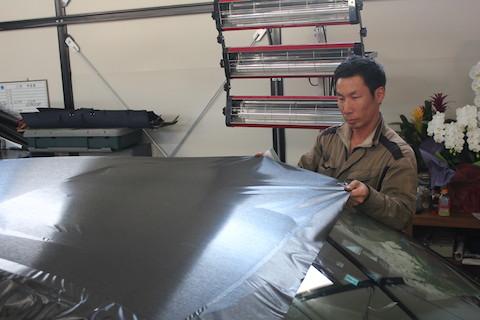 マツダ CX-5 カーラッピング ブラッシュドブラック