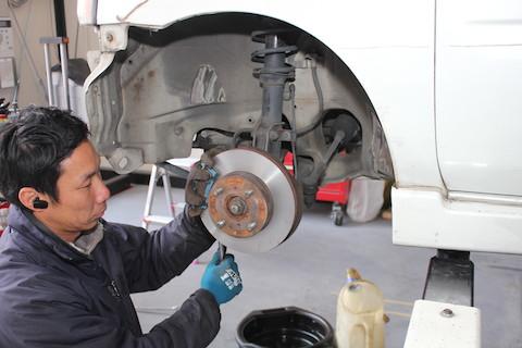 ワゴンR ブレーキローター 研磨