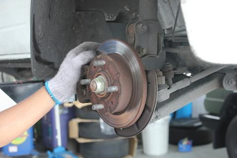 ミニキャブ ブレーキ 交換 ローター