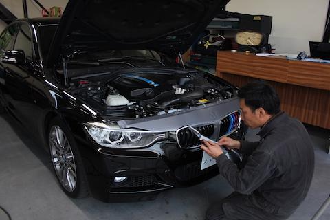 BMW アクティブハイブリッド3 カーラッピング カーボン