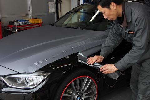 BMW Active Hybrid 3 カーボン ラッピング