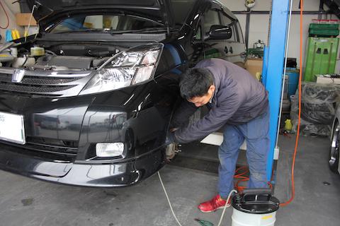 アイシス 車検 整備 ブレーキフルード 交換