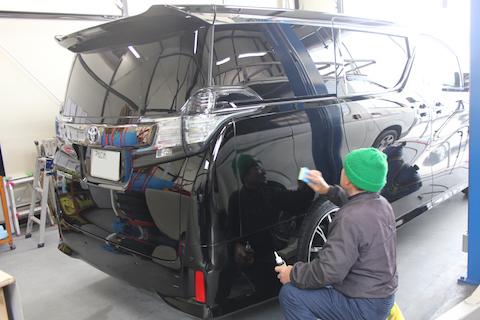 ヴェルファイア 新車 カーフィルム 施工 ガラスコーティング