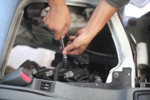 ミニキャブ エンジン不調 修理