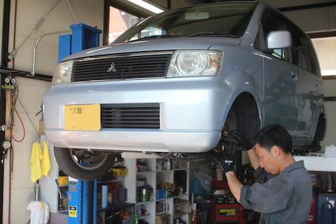 ekワゴン 車検 ドライブシャフトブーツ 交換