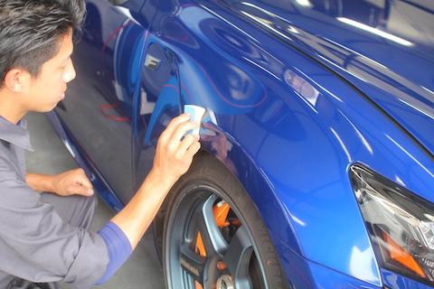 レクサス GSF ガラスコーティング デントリペア