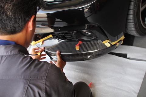 BMW 420i カーラッピング フロントスポイラー