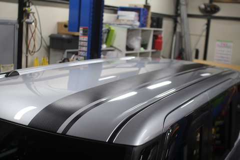 タント カーラッピング レーシングストライプ カーボンブラック