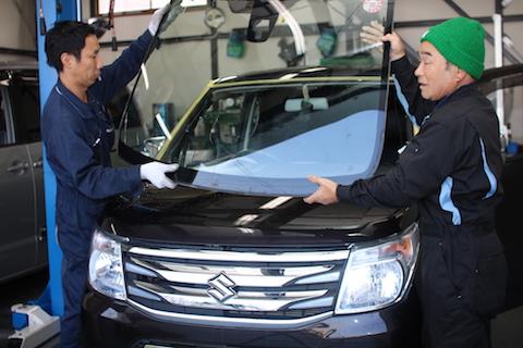 ワゴンR ブレーキサポート フロントガラス交換
