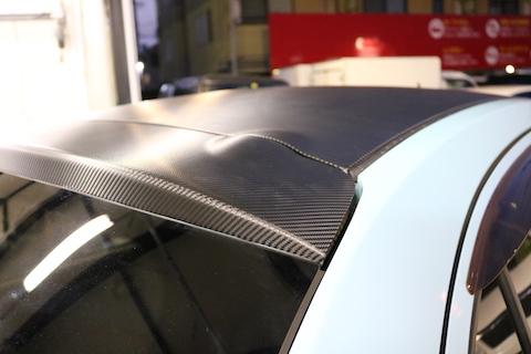3M(住友)製のカーボン調ブラックでカーラッピング