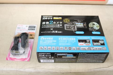 前後2つのドライブレコーダー、ユピテルZDR-015の取付