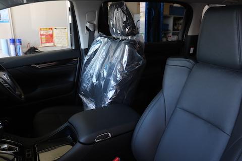 新車のヴェルファイアにシートカバー・ドライブレコーダー・レーダー取付
