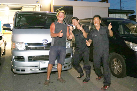 Don't worry!  English speaking mechanic can help any car troubles in Osaka Japan.