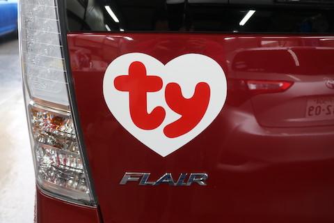企業ロゴを営業車に!世界150カ国以上で愛されるぬいぐるみTy様のご依頼!