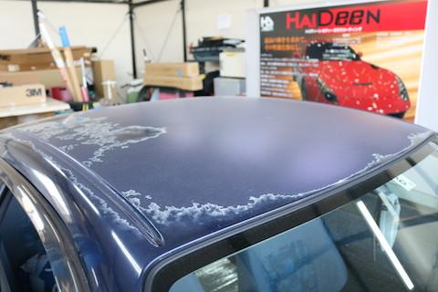 経年劣化で塗装ボディの痛み。塗装で直すのではなく、カーラッピングで色変え!