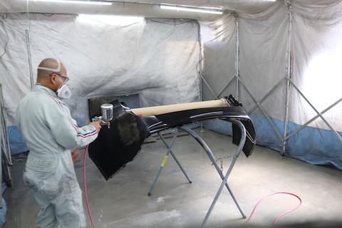 リアバンパーの傷修理、交換せずに鈑金・塗装で再生修理!