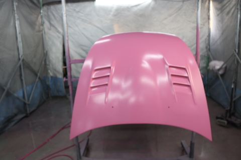 クリア塗装の剥がれ補修、カーボン・FRP・ゲルコートの塗装もお任せください!