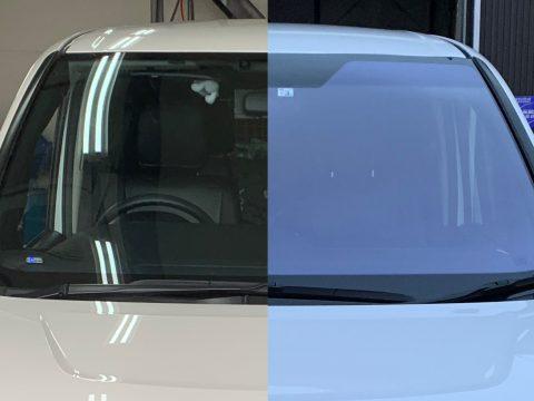 オートサロンでも注目集めた青色のフロントガラス、コートテクトをヴォクシーに取付!