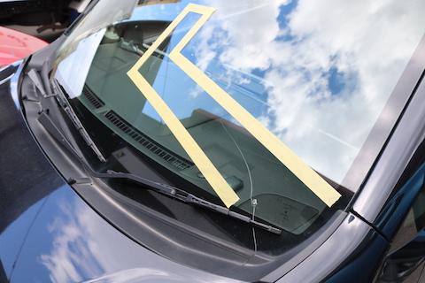 ワゴンRもフロントガラスを青色に変わる!コートテクトでオリジナルのワゴンR!