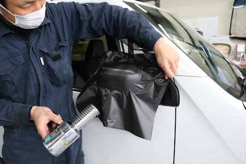 車の傷修理、カーラッピングでデザインして傷隠しとオリジナルデザイン!