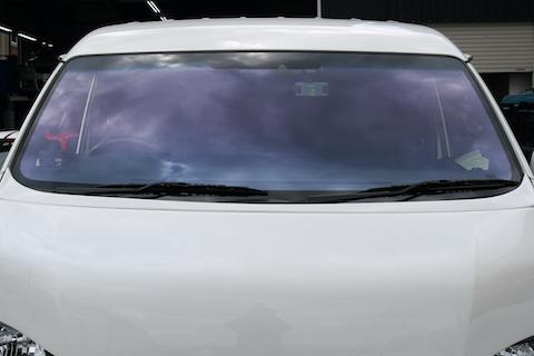 ハイエースのカスタムカー、最終仕上げにコートテクトを追加して更にカッコ良く!