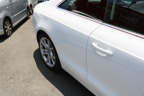 アウディ輸入車でも鈑金・塗装で大きなヘコミも再生修理!