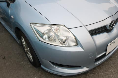 車検はヘッドライトの光量検査があります、レンズのクスミ除去で検査合格!
