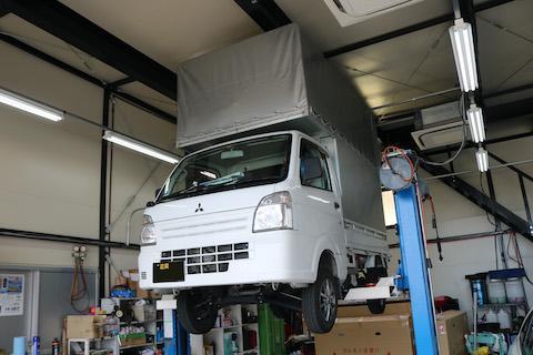 キャリイ軽トラックにヨシムラサイクロンとステアリング 取付!