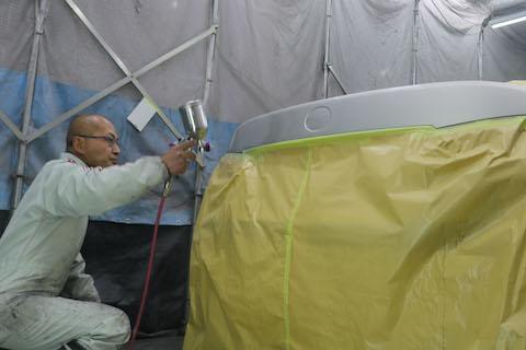 デントリペアできない場合は自社施工の板金・塗装で対応できます!