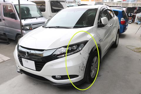 車の傷修理を安くする再生修理、板金・塗装!