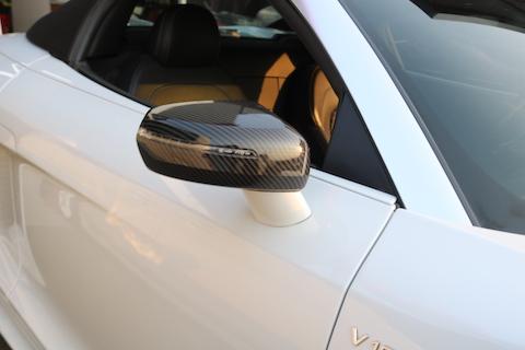 ドアミラーの色変えをカーボンシートでカーラッピングで!