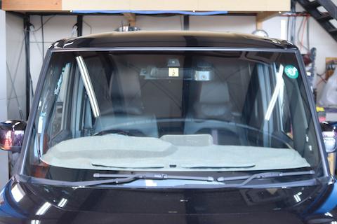 青いフロントガラスは車検にも通る断熱ガラス!